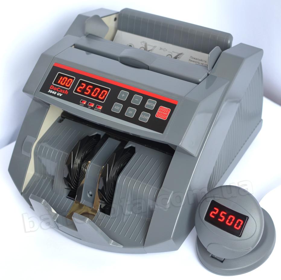 Фото счетчика банкнот DoCash 3040 UV на  docash.com.ua. Купить, цена, доставка.
