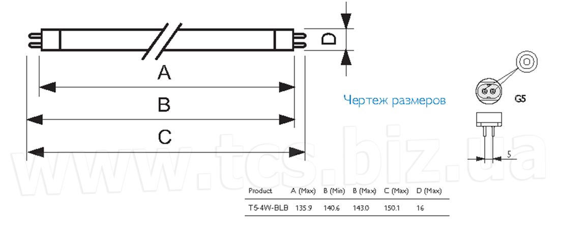 купити T5 4W BLB / TL 4W BLB за доступною ціною з доставкою. Київ, магазин, Миколаїв (0512) 59-07-67